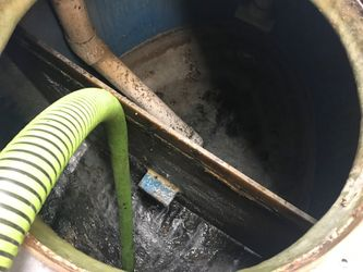 Septic tank after cleaning
